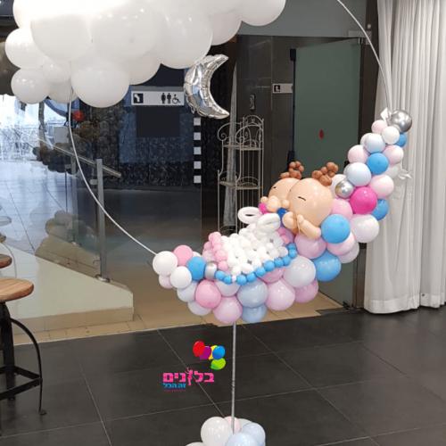 בלונים מעוצבים בצורת תינוקות לברית
