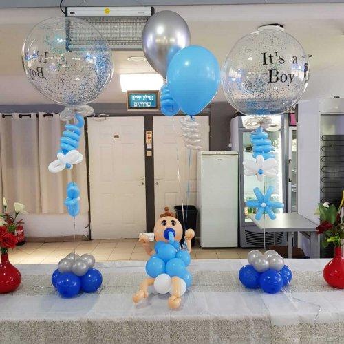 בלונים בעיצוב תינוק לברית