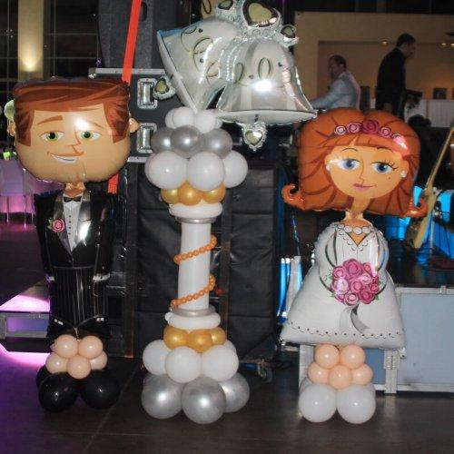 בלונים לחתונה חתן כלה