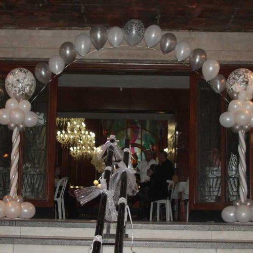 שער בלונים לחתונה